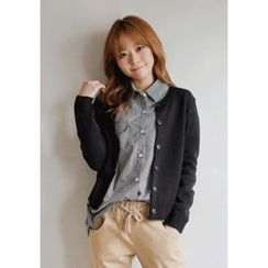 GOROKE - Round-Neck Button-Down Cardigan