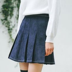 HotBlock - Corduroy Pleated Skirt