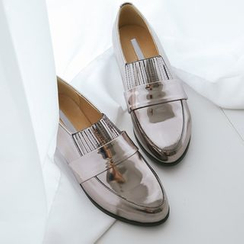 JUSTONE - Metallic Patent Loafers