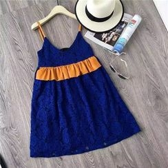 AIGIL - Strappy Lace A-Line Dress