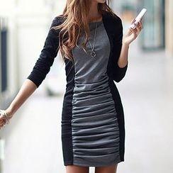 Ranee - Pleated Sheath Dress