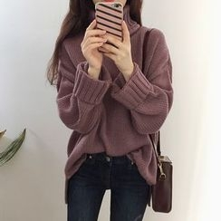 Bloombloom - Turtleneck Chunky Sweater