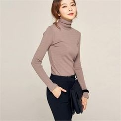 MAGJAY - Turtle-Neck Knit Top