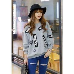 REDOPIN - Cotton Appliqué Sweatshirt