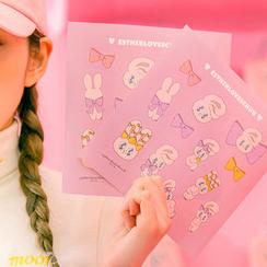 chuu - Bunny Print Stickers