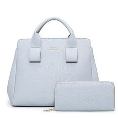 Pandabada - Set: Faux Leather Hand Bag + Long Wallet