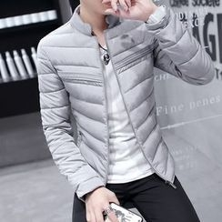 Bay Go Mall - Plain Hooded Padded Coat