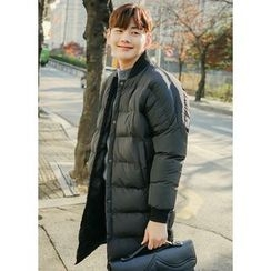 JOGUNSHOP - Snap-Button Long Padded Coat