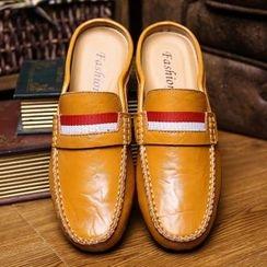 Van Camel - Genuine Leather Mules