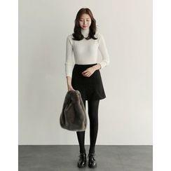 UPTOWNHOLIC - Pintuck A-Line Skirt