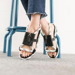VIVIER - Zip-Detail Sandals