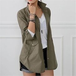 CHICFOX - Tab-Sleeve Snap-Button Jacket