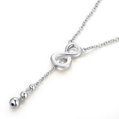MBLife.com - Left Right Accessory - 925 Sterling Silver Infinity Symbol Dangle Beads Necklace (16') Women Girls Jewellery