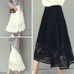 Bloombloom - Lace Midi Skirt