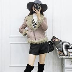 Be Bonita - Faux-Suede Fleece-Lined Jacket