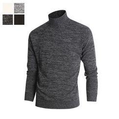 DANGOON - Mock-Neck Brushed-Fleece Lined Pullover
