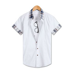 TheLees - Short-Sleeve Check-Panel Shirt