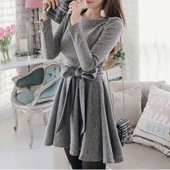 Aurora - Tie-Waist Knit Dress