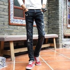 Best Gang - Distressed Slim-Fit Jeans