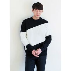 GERIO - Round-Neck Color-Block Pullover