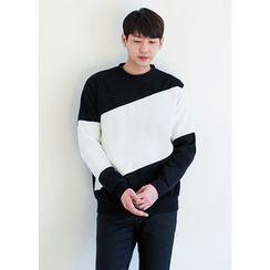 GERIO - Round-Neck Color-Block Pullover