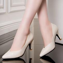 Hannah - 纯色真皮鞋
