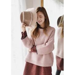 GOROKE - Drop-Shoulder Rib-Knit Sweater