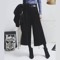 Sonne - Wide-Leg Cropped Wool Pants (2 Design)