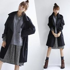 GOROKE - Double-Breasted Trench Coat