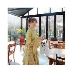 LEELIN - Tiered A-Line Chiffon Dress