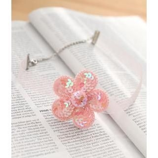 Petit et Belle - Sequined Flower Choker