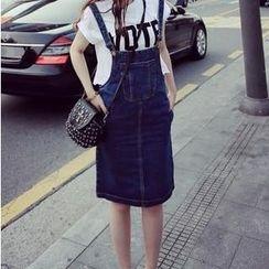 Chika - Denim Jumper Skirt