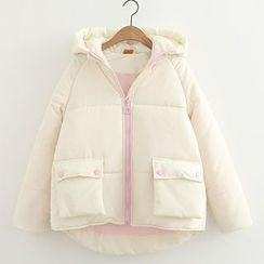 ninna nanna - Plain Hooded Padded Coat