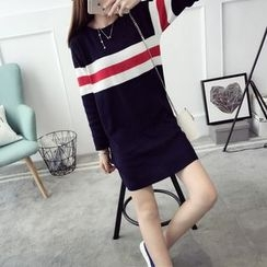 Qimi - Striped Knit Dress