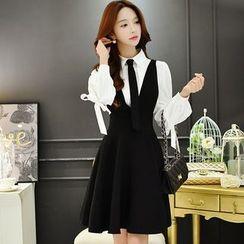 Dabuwawa - Suspender A-Line Skirt