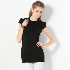 59 Seconds - Cap-Sleeve Top with Detachable Collar