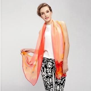 Thantrue - Floral Silk Scarf