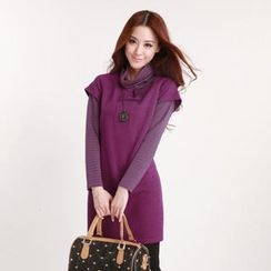 O.SA - Striped Inset Sweater Dress