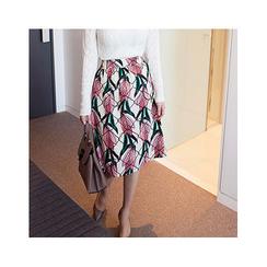 MASoeur - Floral Print A-Line Skirt
