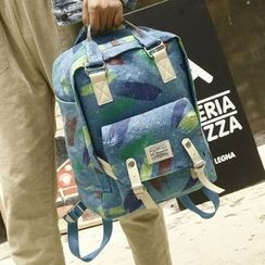 Youme - Printed Canvas Backpack