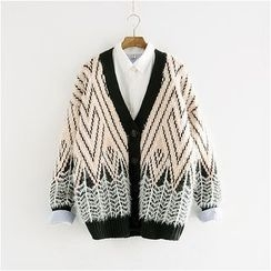 Storyland - Patterned Furry Cardigan