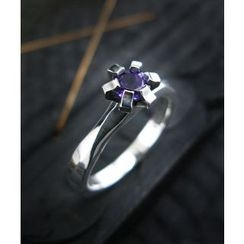 Sterlingworth - Amethyst Sterling Silver Ring