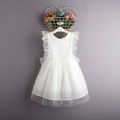 Kidora - 小童网纱拼接无袖连衣裙