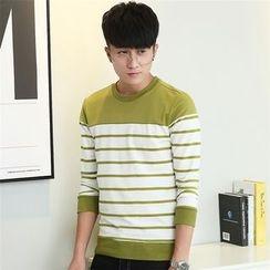 SOLER - Stripe Colour Block Sweatshirt