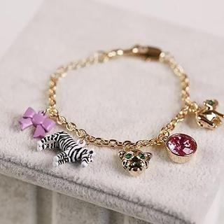 Love Generation - Animal Charm Rhinestone Bracelet