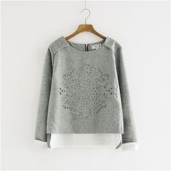 Storyland - Mock Two-Piece Cutout Pullover