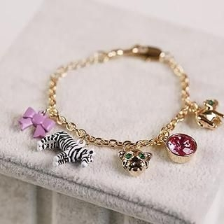 Love Generation - Animal Charm Rhinestone Bracelet
