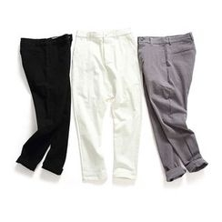 Chuoku - Low Crotch Slim Fit Pants
