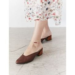 FROMBEGINNING - Genuine Leather Mules
