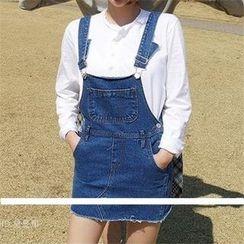 MISS YOYO - Denim Jumper Skirt